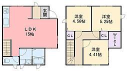 [一戸建] 福岡県糸島市前原駅南2丁目 の賃貸【/】の間取り
