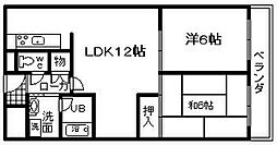 城南マンション 2[3号室]の間取り
