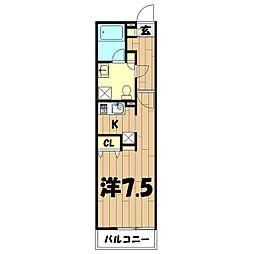 神奈川県横浜市旭区白根2丁目の賃貸アパートの間取り