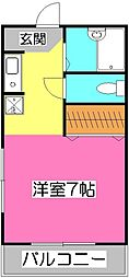 シャインロード所沢[3階]の間取り