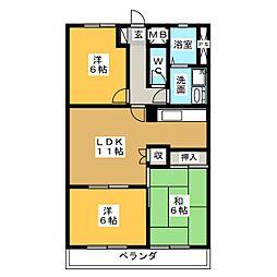 倉知マンションII[1階]の間取り