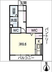 D-room North 1階ワンルームの間取り