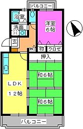 福岡県福岡市南区柳瀬1丁目の賃貸マンションの間取り