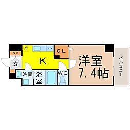 ウェルシー亀島[1階]の間取り