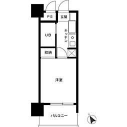 ロイヤルパレス川崎本町[0203号室]の間取り