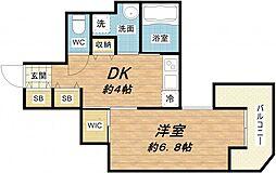 ララプレイス大阪城ヴェステン[8階]の間取り