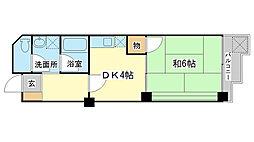 赤穂リバービューマンション[205号室]の間取り
