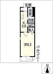 レクサス オタイ[2階]の間取り