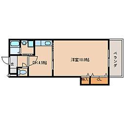奈良県橿原市石川町の賃貸マンションの間取り