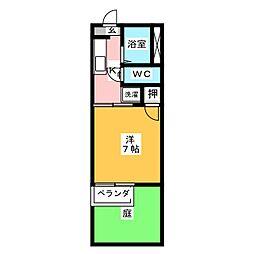 ドミールフォーレ[1階]の間取り