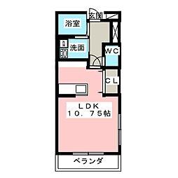 パレットNAKADA[3階]の間取り