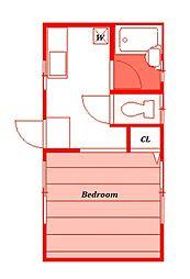 ダイハイツII[1階]の間取り