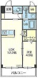 埼玉高速鉄道 浦和美園駅 徒歩11分の賃貸マンション 3階1LDKの間取り