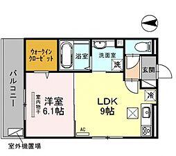 仮称)西野小柳町D-room[105号室号室]の間取り