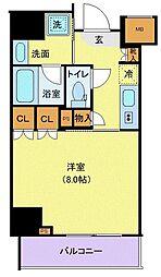 東京メトロ有楽町線 江戸川橋駅 徒歩5分の賃貸マンション 6階1Kの間取り