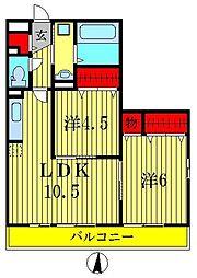 メゾンボヌール[2階]の間取り