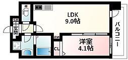 JR東海道・山陽本線 新大阪駅 徒歩10分の賃貸マンション 12階1LDKの間取り
