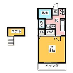 エクセルハウス[1階]の間取り