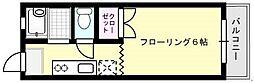 光ハイツI[201号室]の間取り