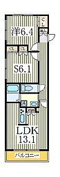 グランドステージ柏[3階]の間取り