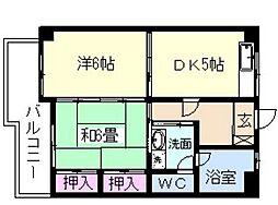 久保山ビル[3階]の間取り