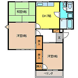 マルヨハイツB棟[2階]の間取り