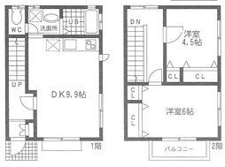 [テラスハウス] 神奈川県茅ヶ崎市柳島2丁目 の賃貸【/】の間取り