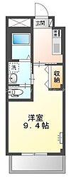 岡山電気軌道清輝橋線 清輝橋駅 徒歩30分の賃貸アパート 2階1Kの間取り