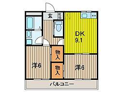 関野マンション[3階]の間取り