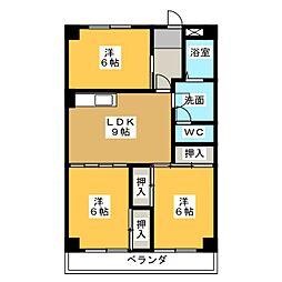 セゾンドシャトー[4階]の間取り