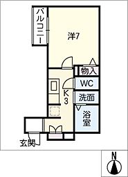 仮)シャーメゾン神村町[1階]の間取り