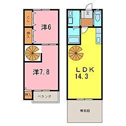 [テラスハウス] 愛知県刈谷市半城土中町3丁目 の賃貸【/】の間取り