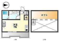 (仮称)港区新川町II 新築アパート[3階]の間取り