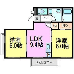 Liberty Court[3階]の間取り