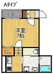 Fメゾン東粉浜[1階]の間取り