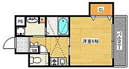 大阪府大阪市西成区潮路2丁目の賃貸マンションの間取り