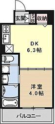 アクアプレイス京都西院[606号室号室]の間取り