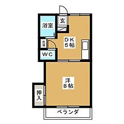 オーレ東仙台[2階]の間取り