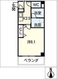 ウィング千種[4階]の間取り