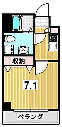 吉田ヒル京園[104号室]の間取り
