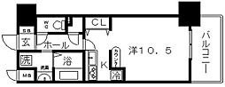 ブランクレール谷町[5階]の間取り