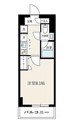 京急本線 梅屋敷駅 徒歩10分の賃貸マンション 3階1Kの間取り