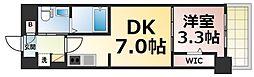 Osaka Metro千日前線 今里駅 徒歩2分の賃貸マンション 3階1DKの間取り