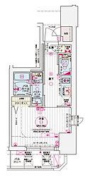 神戸高速東西線 西元町駅 徒歩3分の賃貸マンション 13階1Kの間取り