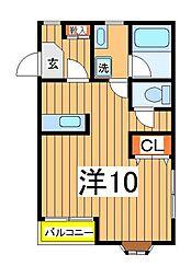 興亜第3マンション[302号室]の間取り