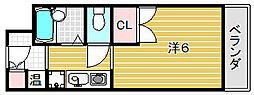 スチューデントパレス茨木[4階]の間取り