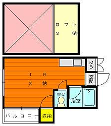 シャイナハイムA[2階]の間取り