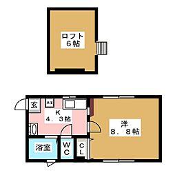 Maison RATIS[1階]の間取り