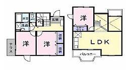 愛媛県松山市吉藤2丁目の賃貸アパートの間取り