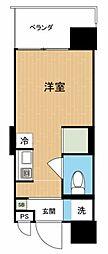 Hana House−Maejima 1階ワンルームの間取り